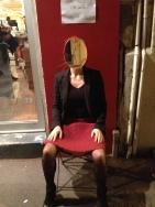 """""""Jetez un oeil sous ma jupe"""" _ performance de Hortense Gauthier avec Nadine Agostini _ festival Poésie Marseille _ nov. 2013"""